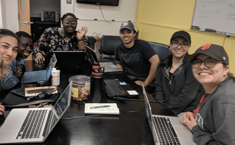 Coding summer program (BDSP) in 2018, when students were in the same room for 8 hours a week.