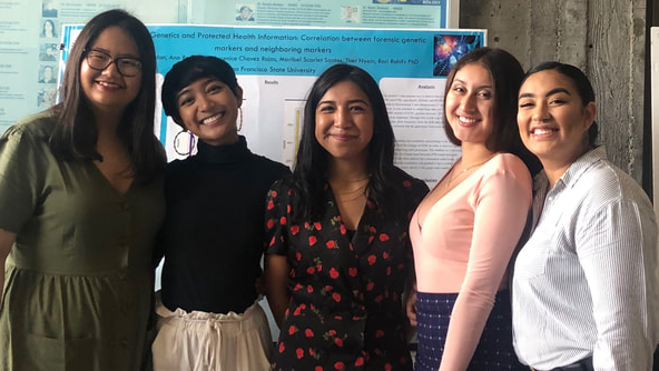 The forensic genetics team at the Big Data Science Program in the summer of 2019. Berenice Chavez Rojas is in the middle.